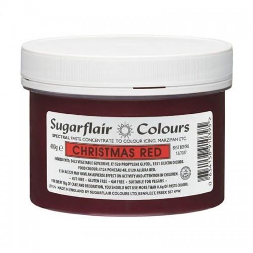 Sugarflair gelová barva Christmas red XXL - vánoční červená -  400g