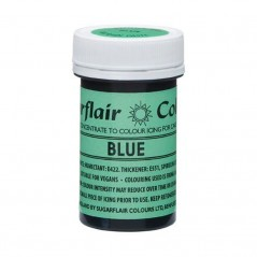 Sugarflair NatraDi Natural Blue - přírodní barvivo gelové - modrá