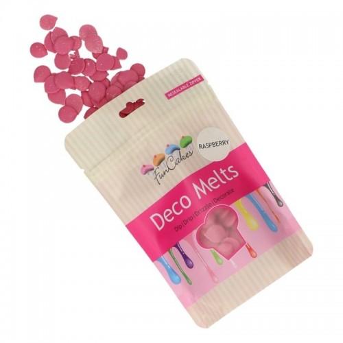 FunCakes deco melts - poleva růžová - malina - disky - 250g