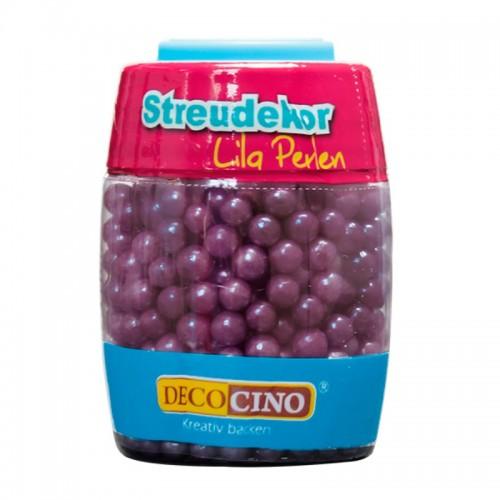 DecoCino cukrová dekorace - perličky lila - 65g