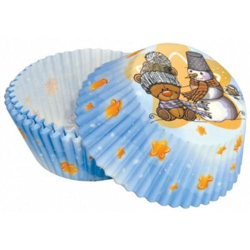 Cukrářské košíčky - medvěd + sněhulák  50ks