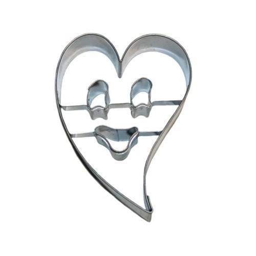 Nerezové vykrajovátko - smajlík v srdci