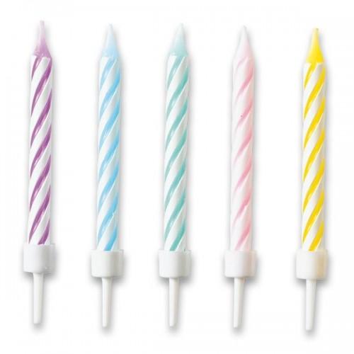 Dortové svíčky pastelové barvy 10ks