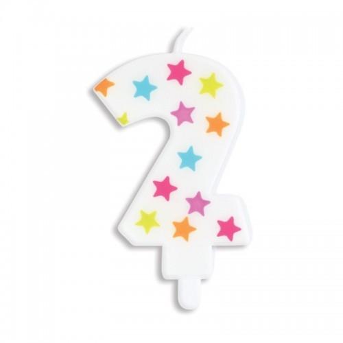 SCRAPCOOKING dortová svíčka - hvězda - č.2