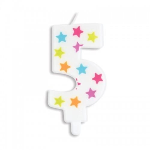SCRAPCOOKING dortová svíčka - hvězda - č.5