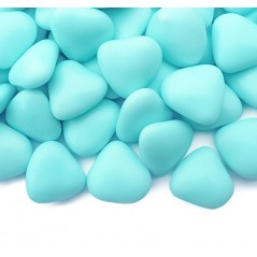 Čokoládová srdíčka - modrá - 50g